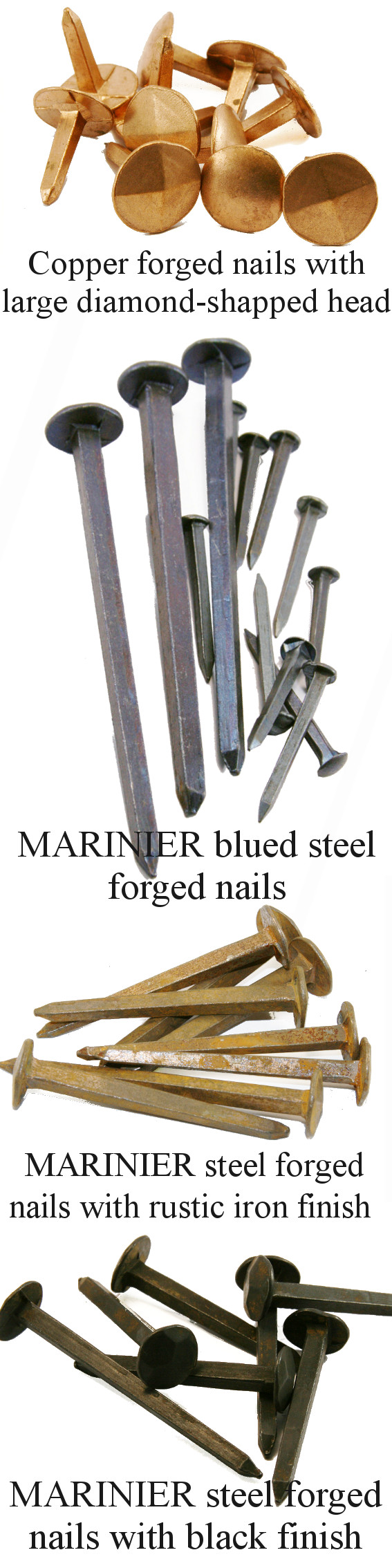 RIVIERRE forged nails for carpentry and framework